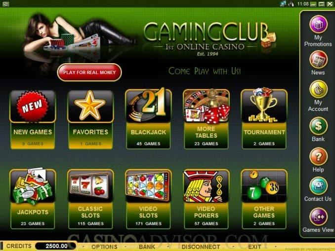 Gaming Club Casino Зеркало